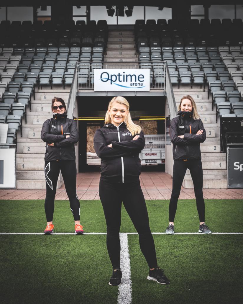 Stine Therese Timland og Optime Girls